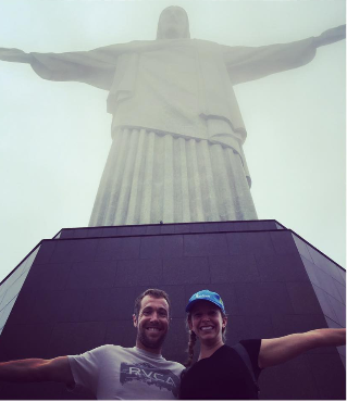 Whitney Small & Paul Barr at Cristo Redentor, Rio