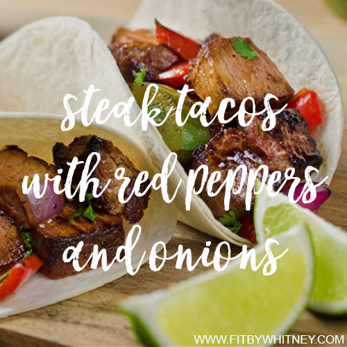 Steak Tacos with Red Peppers and Onions Recipe IG