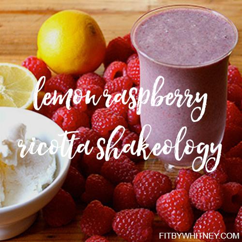 Lemon Raspberry Ricotta Shakeology Recipe - Raspberries, fresh lemon, and mild ricottamakethisShakeologysmoothie taste like a fancy Italian dessert. It has 25 grams of protein per serving, and only 250 calories.