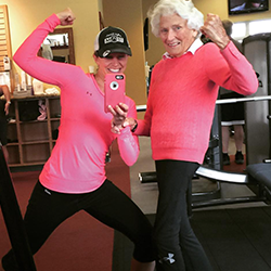 Whitney and Pat - 92 Year Old Fitness Client (250x250)