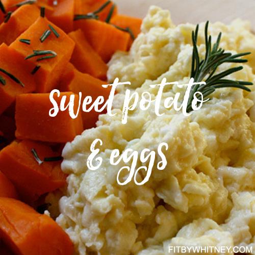 Sweet Potato and Eggs Healthy Recipe